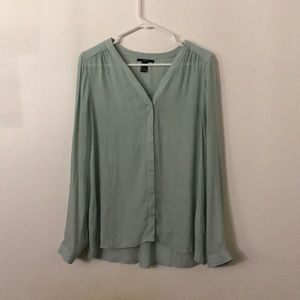 Forever 21 Mint Button down Top size L
